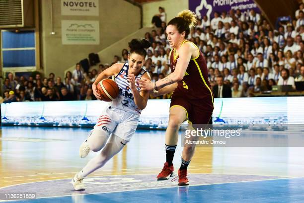 Taylor Wurtz of Montpellier and Laura Nicholls of Orenburg during the Final Women EuroCup match between Montpellier Lattes and Nadezhda Orenburg on...