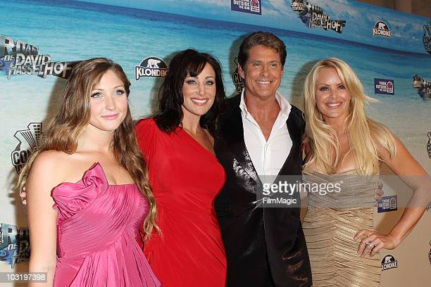 TaylorAnn Hasselhoff David Hasselhoff and Gena Lee Nolin arrive to Comedy Central's Roast of David Hasselhoff held at Sony Pictures Studios on August...