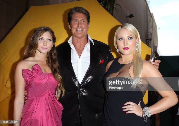 TaylorAnn Hasselhoff David Hasselhoff and Hayley Hasselhoff arrive to Comedy Central's Roast of David Hasselhoff held at Sony Pictures Studios on...