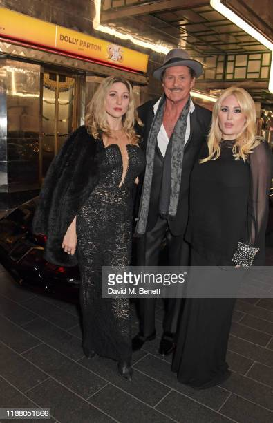 TaylorAnn Hasselhoff David Hasselhoff and Hayley Hasselhoff pose with KITT from Knight Rider at the gala party to celebrate David Hasselhoff joining...