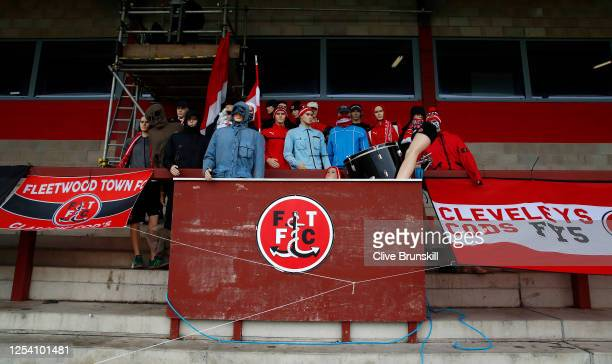 Taylors dummies dressed as Fleetwood Town fans during the Sky Bet League One Play Off Semi-final 1st Leg match between Fleetwood Town and Wycombe...