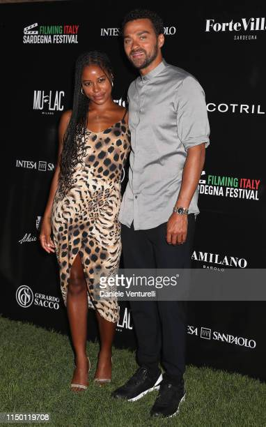 Taylour Paige and Jesse Williams attend the Filming Italy Sardegna Festival 2019 Day 2 at Forte Village Resort on June 14 2019 in Cagliari Italy