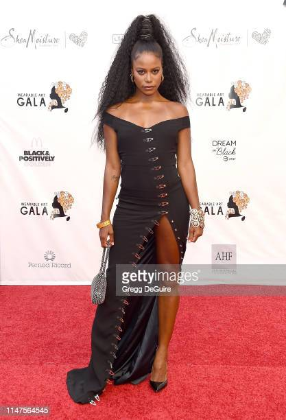 Taylour Paige arrives at the WACO Theater Center's 3rd Annual Wearable Art Gala at The Barker Hangar at Santa Monica Airport on June 1 2019 in Santa...