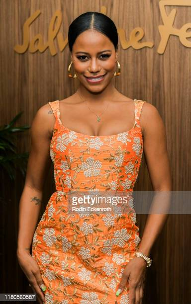 Taylour Paige attends ELLE x Ferragamo Hollywood Rising Party at Sunset Tower on October 11 2019 in Los Angeles California