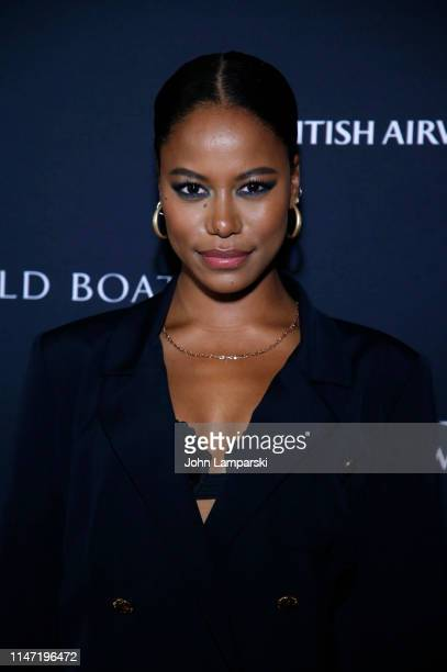 Taylour Paige attends Ozwald Boateng Harlem Runway Show at The Apollo Theater on May 05 2019 in New York City