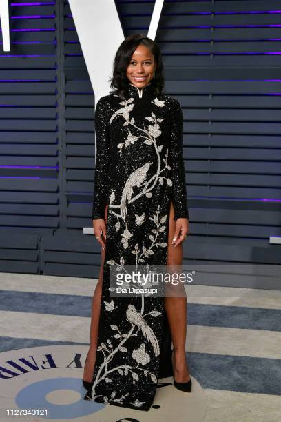 Taylour Paige attends the 2019 Vanity Fair Oscar Party hosted by Radhika Jones at Wallis Annenberg Center for the Performing Arts on February 24 2019...