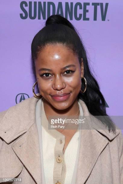 Taylour Paige attends the 2020 Sundance Film Festival Cinema Cafe With Zazie Beetz Elle Lorraine And Taylour Paige at Filmmaker Lodge on January 28...