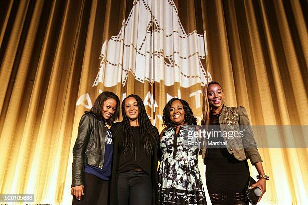 Taylour Paige Director Stella Meghie Sherri Shepherd and Erica Ash of 'Jean of the Joneses' attends Closing Night 40th Annual Atlanta Film Festival...