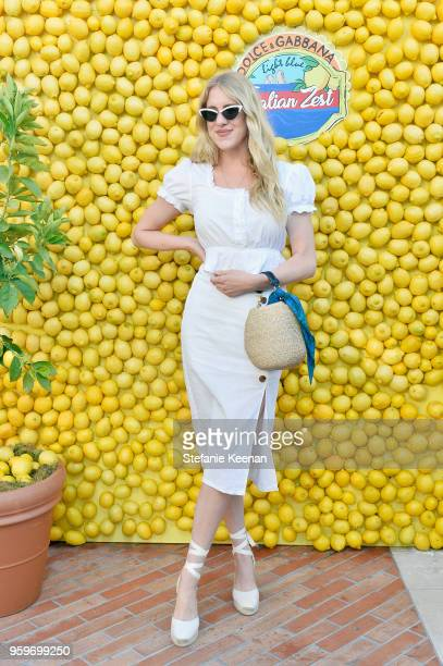 Taylr Anne attends the Dolce Gabbana Light Blue Italian Zest Launch Event at the NoMad Hotel Los Angeles on May 17 2018 in Los Angeles California
