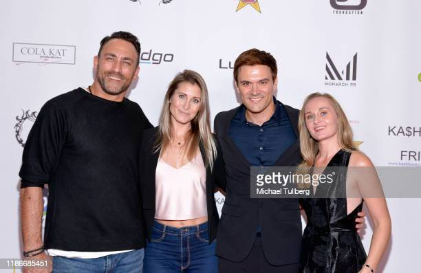 Taymour Ghazi Gabrielle Stone Kash Hovey and Lisa Siewert attend the Kash Hovey and Friends Film Block at Film Fest LA at Regal Cinemas LA LIVE...