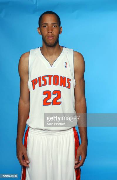 Tayshaun Prince of the Detroit Pistons poses for a portrait during the Pistons Media Day on October 3, 2005 in Auburn Hills, Michigan. NOTE TO USER:...