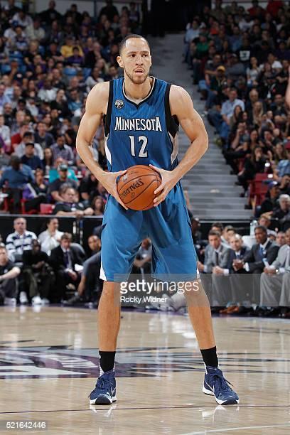 Tayshaun Prince of the Minnesota Timberwolves handles the ball against the Sacramento Kings on April 7 2016 at Sleep Train Arena in Sacramento...