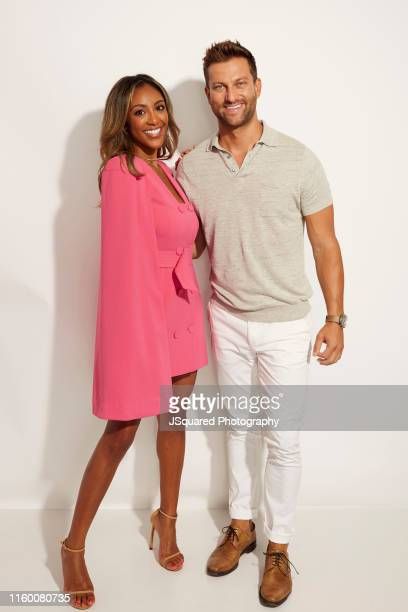 Tayshia Adams and Chris Bukowski of ABC's 'Bachelor in Paradise' pose for a portrait during the 2019 Summer TCA Portrait Studio at The Beverly Hilton...