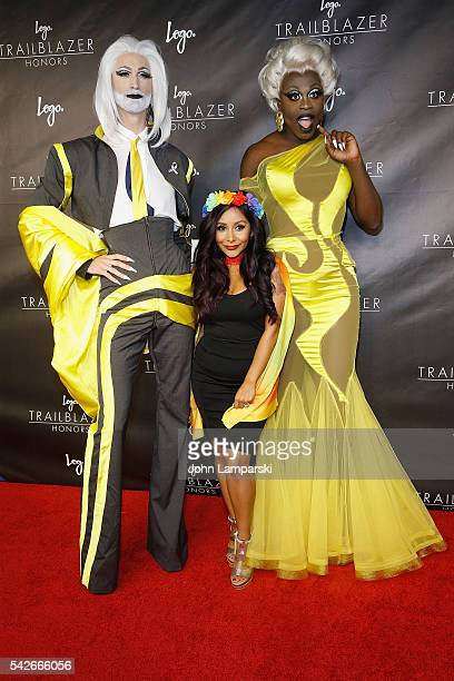 TayTay Nicole Polizzi and Bob the Drag Queen attends 2016 Trailblazer Honors at Cathedral of St John the Divine on June 23 2016 in New York City