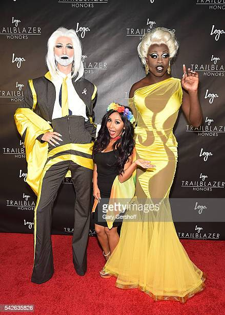 TayTay Snooki and Bob the Drag Queen attend 2016 Logo's Trailblazer Honors at Cathedral of St John the Divine on June 23 2016 in New York City