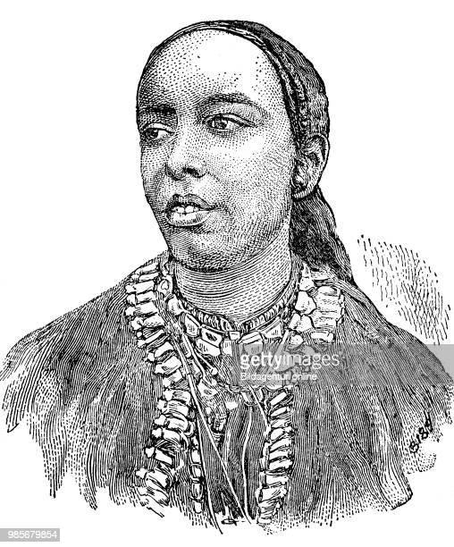 Taytu Betul the third wife of Menelik Emperor Menelik II GCB 1844 1913 was Negus of Shewa then Emperor of Ethiopia digital improved reproduction of a...