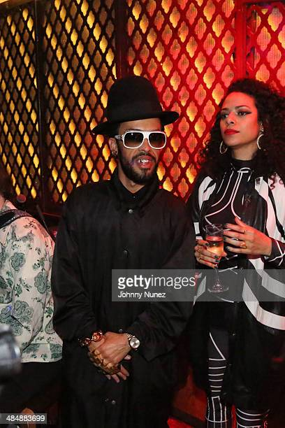 Taz Arnold and DJ Rashida attend Le Mirrors International And Chef Roble Present Kimberly Nichole at Ginny's Supper Club on April 6 2014 in New York...