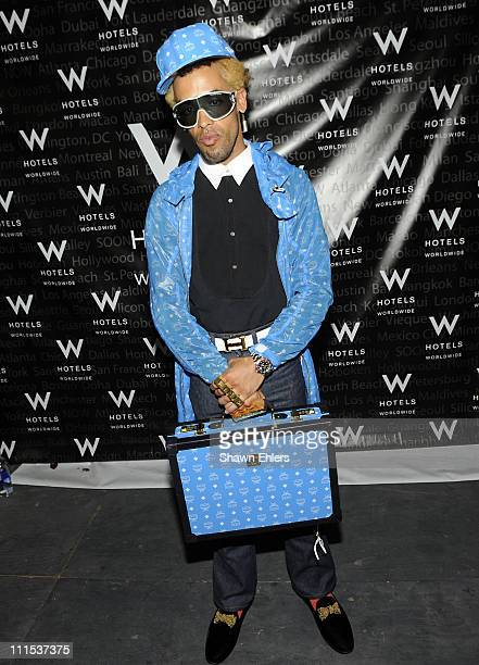 Taz at the unveiling of the MCM Assouline Campaign at W Hotels VIP Lounge Bryant Park Tents on February 18 2009 in New York City