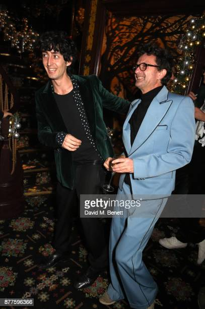 Taz Tustok and guest attend the Nick Cave The Bad Seeds x The Vampires Wife x Matchesfashioncom party at Loulou's on November 22 2017 in London...