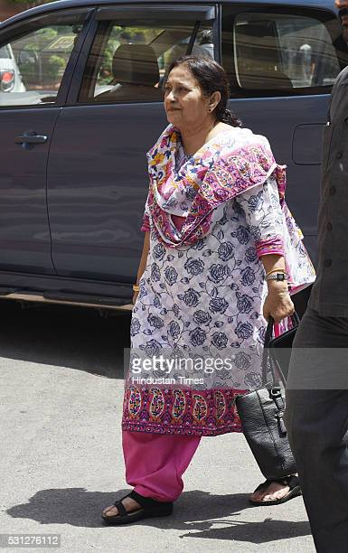 Tazeen Fatima Samajwadi Rajya Sabha MP and wife of Uttar Pradesh Minority Affairs Minister Azam Khan arrives at Parliament during the Budget Session...