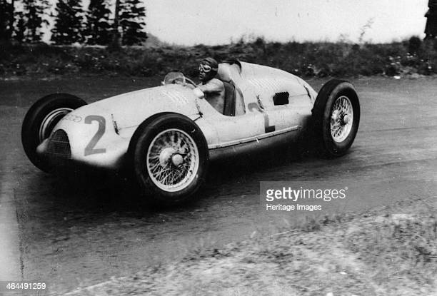 Tazio Nuvolari driving a 3 litre Auto Union in a Grand Prix 1939 Nuvolari was one of the legendary figures of the 'golden age' of motor racing in the...