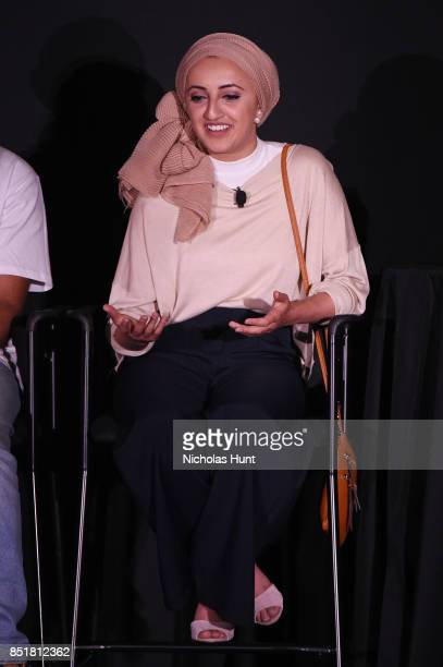 Tazzy Phe speaks at the Tribeca TV Festival premiere of YouTube Creators for Change at Cinepolis Chelsea on September 22 2017 in New York City