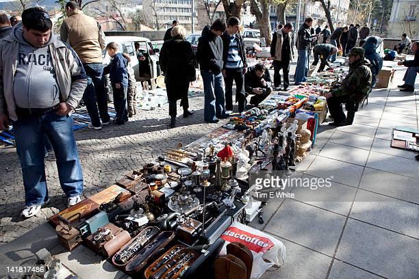 Tbilisi dry bridge flea market, Georgia