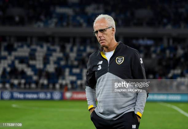 Tbilisi Georgia 12 October 2019 Republic of Ireland manager Mick McCarthy following the UEFA EURO 2020 Qualifier match between Georgia and Republic...