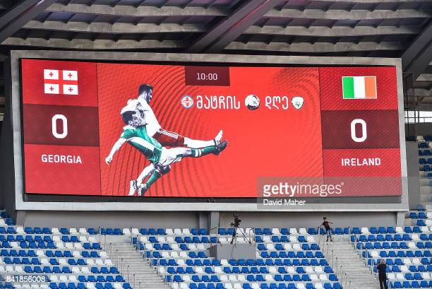 Tbilisi Georgia 2 September 2017 A general view of the scoreboard before the FIFA World Cup Qualifier Group D match between Georgia and Republic of...