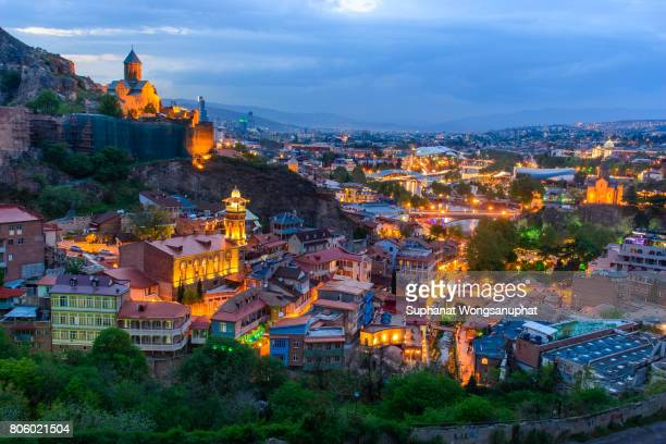 tbilisi old town - georgia country stock pictures, royalty-free photos & images
