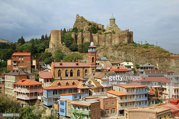 Tbilisi, Old town with mosque and Narikala fort