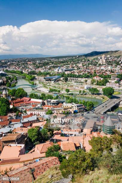 Tbilisi overview as seen from Narikala fortress.