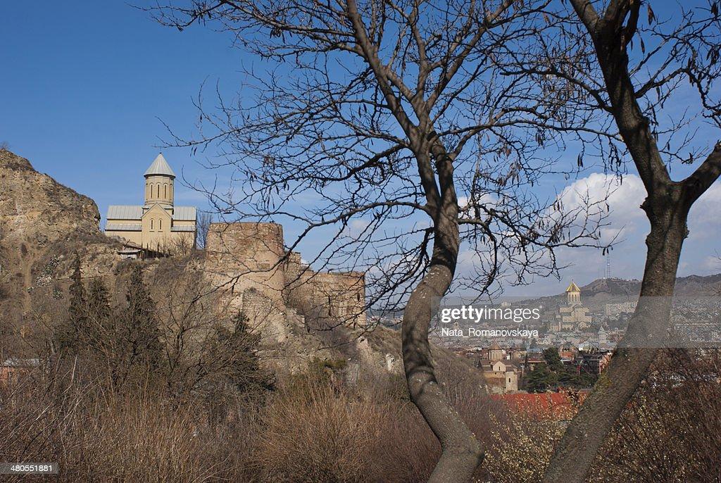 panorama de Tbilissi : Foto de stock