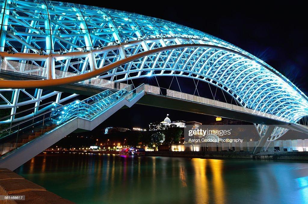 Tbilisi Peace Bridge : Stock Photo