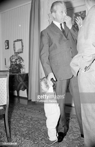 Tübingen Allemagne de l'Ouest 11 novembre 1966 Kurt Georg KIESINGER ministreprésident du Land BadeWurtemberg et candidat de la CDU à la chancellerie...