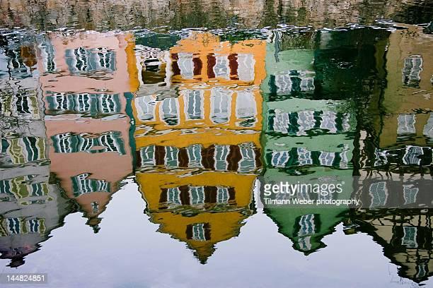 Tübingen Neckarfront reflections