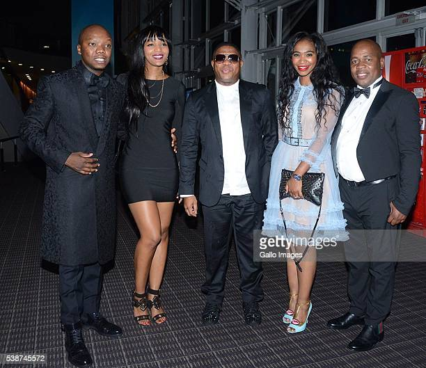Tbo Touch Nandi Ganda Fikile Mbalula Nozuko Mbalula and Mzwandile Masina attend the 22nd annual South African Music Awards at the Durban...