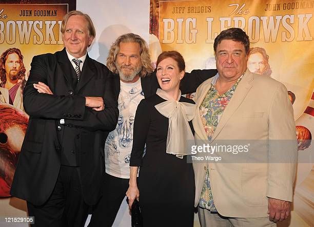 TBone Burnett Jeff Bridges Julianne Moore and John Goodman attend 'The Big Lebowski' Bluray release at the Hammerstein Ballroom on August 16 2011 in...