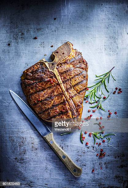 T-bone Steak, red pepper and rosemary