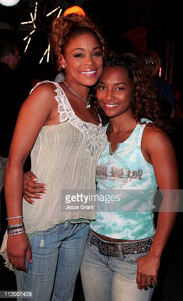 TBoz and Chilli of TLC during UPN 2005 Press Tour Party at Paramount Studios in Hollywood California United States