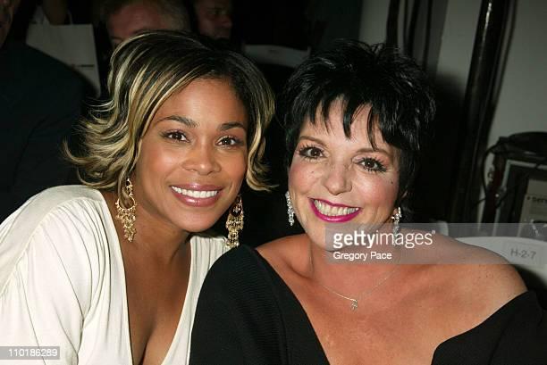TBoz and Liza Minnelli during MercedesBenz Fashion Week Spring 2004 Heatherette Front Row at MAO Space at Atlas in New York City New York United...