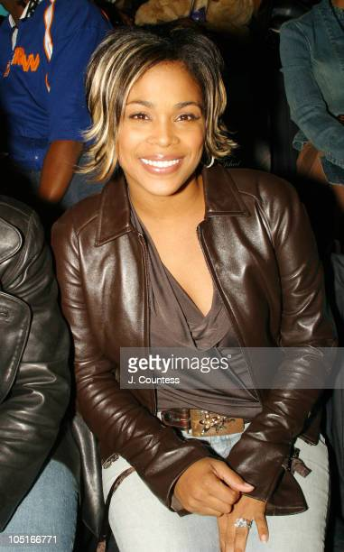 Tboz from TLC during MercedesBenz Fashion Week Spring 2004 Baby Phat Front Row at Gertrude Tent Bryant Park in New York City New York United States
