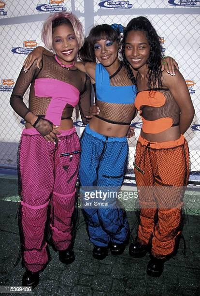 TBoz Lisa Left Eye Lopes and Chilli of TLC during Nickelodeon's 12th Annual Kids Choice Awards at UCLA Pauley Pavillion in Westwood California United...