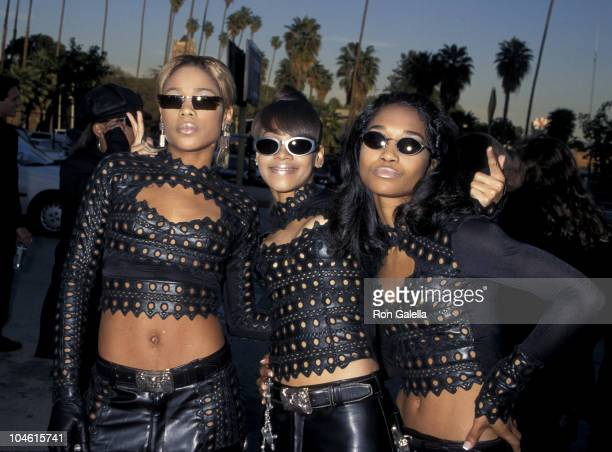 TBoz Lisa Left Eye Lopes and Chilli of TLC during The 2nd Annual Blockbuster Awards at The Pantages Theatre in Los Angeles California United States