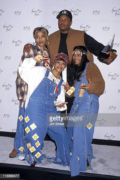 TBoz Lisa Left Eye Lopes and Chilli of TLC with Dr Dre