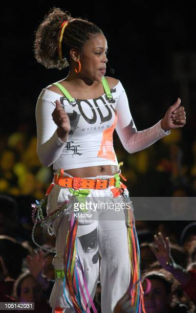 """Boz of TLC in their last concert as a group, following the death of member Lisa """"Left Eye"""" Lopes last year."""