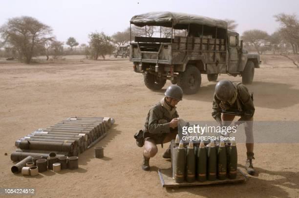 Tchad, Décembre 1983-Janvier 1984 --- Les soldats français du 21ème RIMa (Régiment d'infanterie de marine, une unité de l'armée de terre française,...