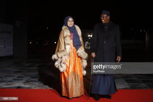 Tchad's President Idriss Deby and his wife attend a state diner and a visit of the Picasso exhibition as part of ceremonies marking the 100th...