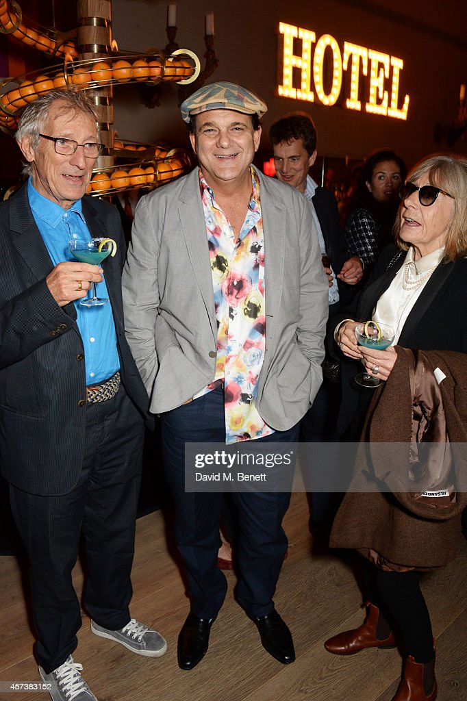 Tchaik Chassay, director Marc Quinn and Melissa Chassay attend the VIP Gala Screening of 'Marc Quinn: Making Waves' at the Ham Yard Hotel on October 17, 2014 in London, England.