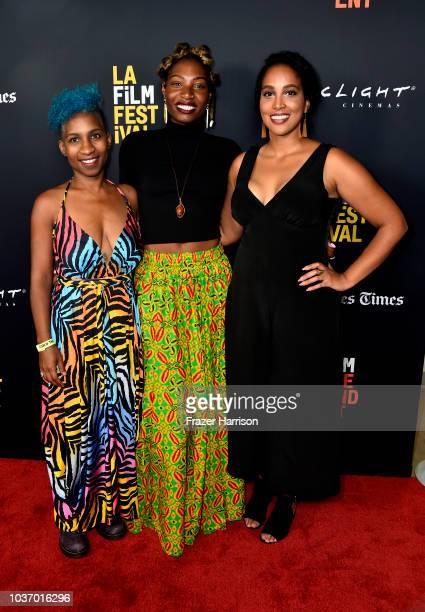 Tchaiko Omawale Maya Emelle Sophia Solomon attend the 2018 LA Film Festival Opening Night Premiere Of 'Echo In The Canyon' at John Anson Ford...